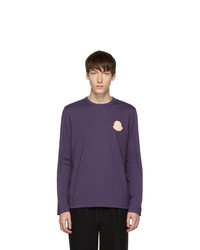 Moncler Purple Maglia Bell Long Sleeve T Shirt