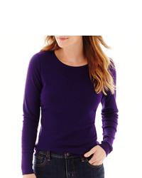 St Johns Bay St Johns Bay Long Sleeve Essential Crewneck T Shirt
