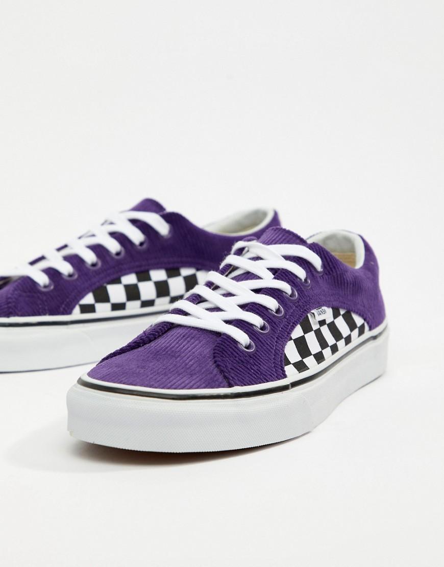 Vans Lampin Cord Trainers In Purple