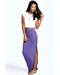 Boohoo Michelle Viscose Maxi Skirt