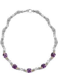 Lagos Amethyst Prism Link Necklace