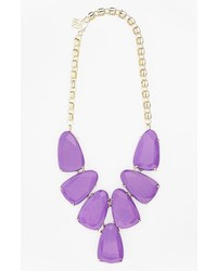 Kendra Scott Harlow Frontal Necklace Violet Gold