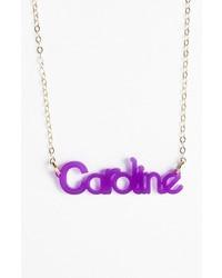 Zebra block font personalized nameplate pendant necklace medium 203984