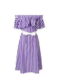 Maison Rabih Kayrouz Off The Shoulder Striped Dress