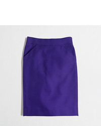 J.Crew Factory Tall Pencil Skirt In Double Serge Cotton