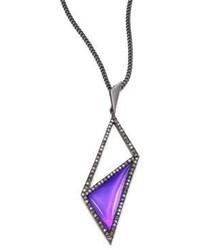 Alexis Bittar Crystal Framed Pendant Necklace