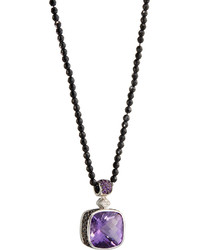 Roberto Coin Colored Dreams Amethyst Diamond Spinel Pendant Necklace