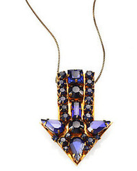 Stella McCartney Jeweled Arrow Pendant Necklace