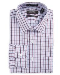 Shop smartcare traditional fit plaid dress shirt medium 1125281