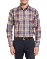 Robert Talbott Anderson Classic Fit Plaid Sport Shirt