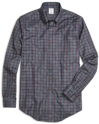 Brooks Brothers Non Iron Milano Fit Micro Tartan Sport Shirt