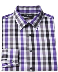 Apt. 9 Slim Fit Sussex Plaid Stretch Spread Collar Dress Shirt