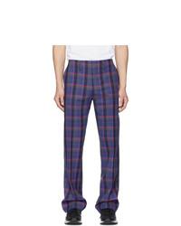 Name Purple Plaid Trousers