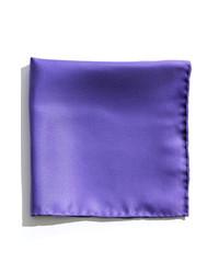 Nordstrom Silk Twill Pocket Square Violet One Size