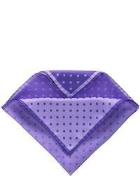 Four color dot solid pocket square purple medium 19547