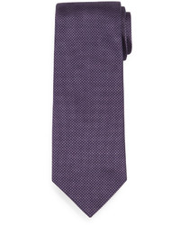 Brioni Textured Dot Print Silk Tie