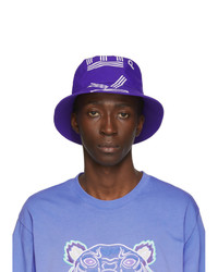 Kenzo Purple Sport Logo Bucket Hat