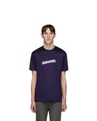 Lanvin Blue Bar Logo T Shirt