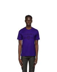 Versace Blue Medusa Logo T Shirt