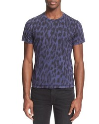 Just Cavalli Leopard Print T Shirt