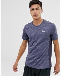 Nike Running Miler T Shirt In Purple 833591 081