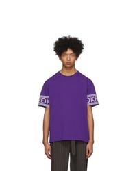 Kenzo Purple Logo T Shirt