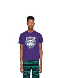 Kenzo Purple Tiger T Shirt