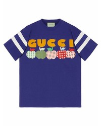 Gucci T Shirt With Apple Print