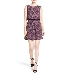 Violet Print Fit and Flare Dress