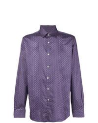 Canali Geometric Patterned Shirt