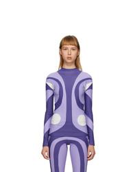 Paula Canovas Del Vas Purple Stretch Long Sleeve T Shirt