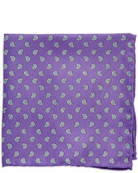 Violet Print Pocket Square