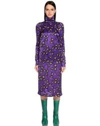 Marni Floral Printed Satin Dress