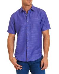Violet Print Short Sleeve Shirt