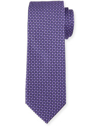 Neiman Marcus Diamond Print Silk Tie Purple