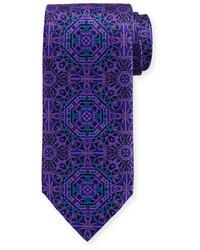Medallion print silk tie medium 1124964
