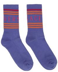Versace Purple Logo Socks