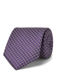 Charvet 75cm Houndstooth Silk And Wool Blend Tie