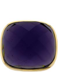 Bijoux Bar Athra Purple Glass Stone Ring