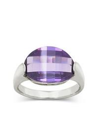 Bridge Jewelry Ring Purple Faceted