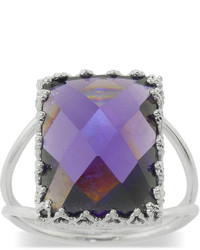jcpenney Fashion Carded Rings Purple Cubic Zirconia Rectangular Ring
