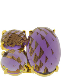 jcpenney Fine Jewelry Athra Purple Glass 3 Stone Ring