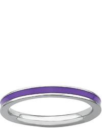 jcpenney Fine Jewelry Personally Stackable Purple Enamel Sterling Silver Ring