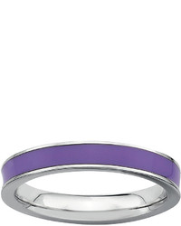 jcpenney Fine Jewelry Personally Stackable Sterling Silver Purple Enamel Stackable Ring