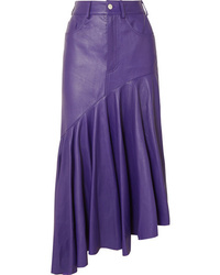 SOLACE London Noe Asymmetric Leather Skirt