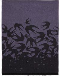 Mcq alexander mcqueen purple swallow dgrad scarf medium 4392387
