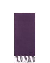 Paul Smith Purple Cashmere Scarf