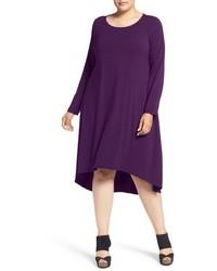 Eileen Fisher Jersey Ballet Neck Knee Length Shift Dress