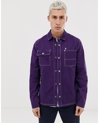 Volcom Fitzkrieg Shirt Jacket In Purple