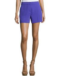 Trina Turk Daulton Crepe Shorts Purple